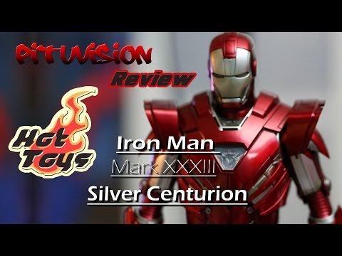 Hot toys Iron Man Silver Centurion Mark XXXIII Action Figure Review