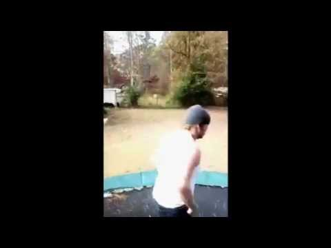 Trampoline fail - pants fall off - YouTube