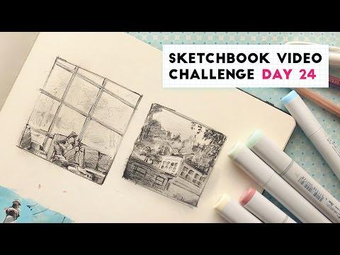 Environment Doodles | Sketchbook Video Challenge: DAY 24