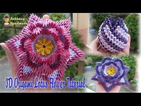 Thumbnail HOW TO MAKE 3D ORIGAMI LOTUS FLOWER