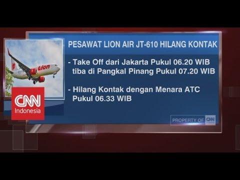 Breaking News! Lion Air JT-610 Rute Jakarta-Pangkal Pinang Hilang Kontak