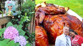 GRILLING IN THE GARDEN,  Flowers, Burgers, Hotdogs & Chicken #spring #familyvlog #grilledchicken