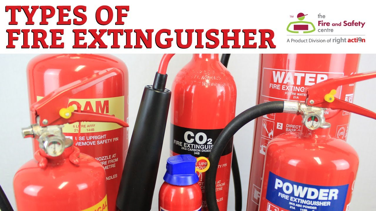types of fire extinguisher and their uses youtube. Black Bedroom Furniture Sets. Home Design Ideas