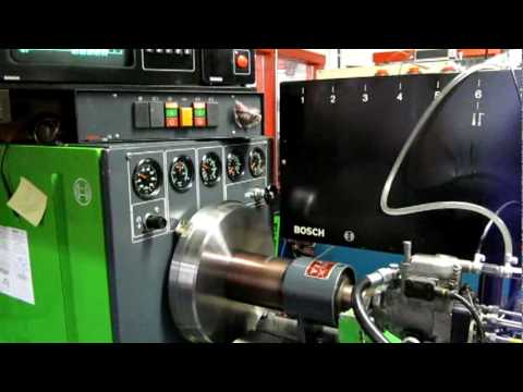 Part 5 Dieselmeken shows Bosch VP37 pump in Bosch 711KMM test bench