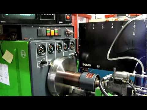 Part 5 Dieselmeken shows Bosch VP37 pump in Bosch 711KMM test bench