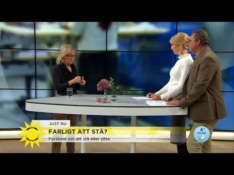 Efter nya trenden – är det farligt att stå upp på jobbet?  - Nyhetsmorgon (TV4)