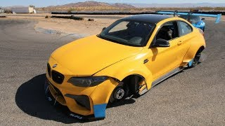 BMW M2 CRASHES DOING DONUTS! Track Day Gone Bad..