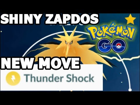 SHINY ZAPDOS + NEW MOVE IN POKEMON GO