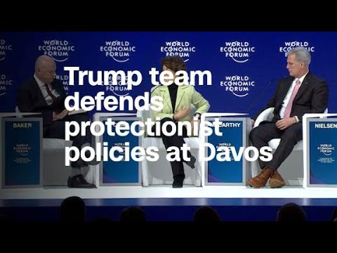 Trump team defends protectionist policies at Davos