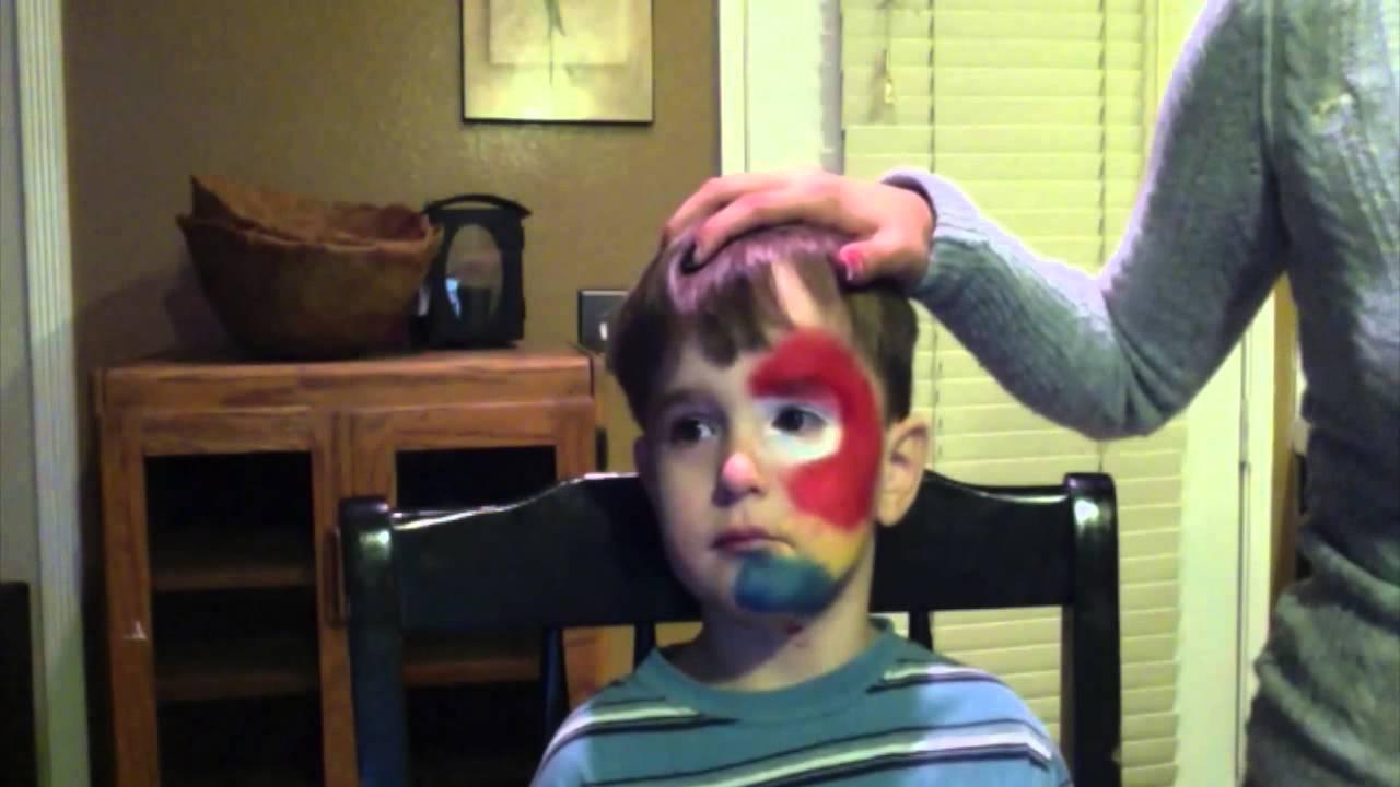 Parrot Face Paint