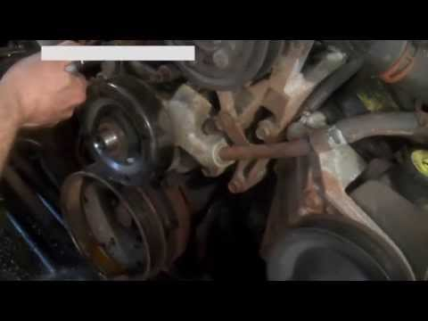 Water pump replacement Dodge Pickup 5.9L 1998 Install Remove Replace