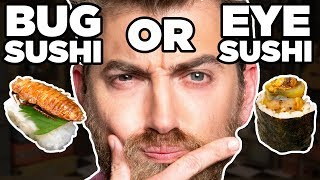 Guess The REAL Gross Food  (GAME) | 2 FOODS AND A LIE
