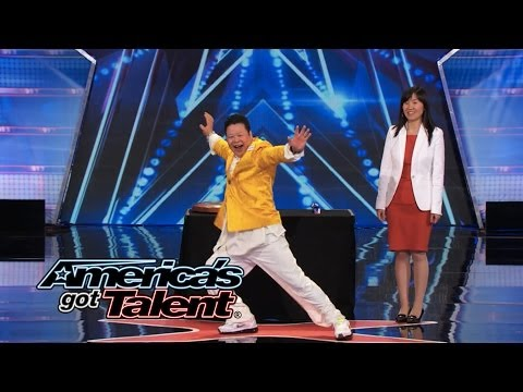 Grand Master Qi Feilong: Nick Cannon Kicks Kung Fu Master in the Crotch - America's Got Talent 2014