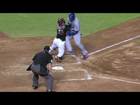 7/9/13: Miguel Montero tags out Yasiel Puig, then exchanges words with the star Cuban outfielder. Check out http://m.mlb.com/video for our full archive of videos, and subscribe on YouTube...