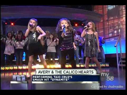 Trio of adorable talented girls and America's Got Talent season 6 finalists, Avery and The Calico Hearts (Avery Winter, 9, Brooklyn Elbert, 10, and Kassidy K...