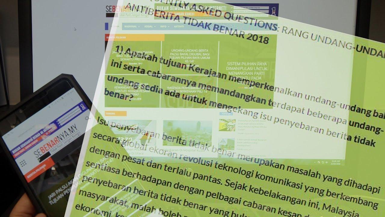 Anti-fake news bill tabled in Dewan Rakyat