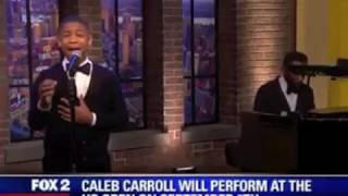 13-Year-Old Caleb Carroll - calebcarroll.com Sings Live on FOX News