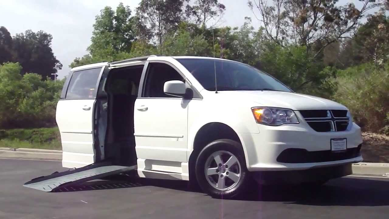 Dodge Grand Caravan Handicap Wheelchair Ramp Van Orange
