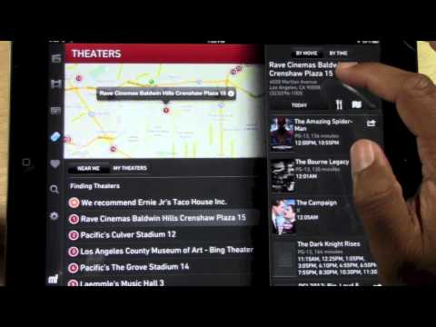 iPad: How to Check Movie Times (Moviefone)