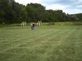 100 lb Heavy bag Walk and Throw - 100 yards