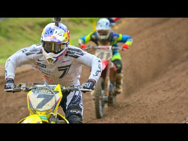 James Stewart vs. Trey Canard Final Three Laps - 2013 Spring Creek MX 450 Moto 1