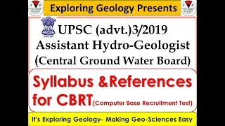 UPSC Assistant Hydrogeologist in CGWB| Exam (CBRT) Syllabus & References| Exploring Geology