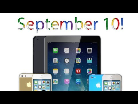 September 10 - iPhone 5S, iPhone 5C, iPad 5
