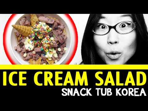B-B-BIG ICE CREAM SALAD (Snack Tub Korea #18)