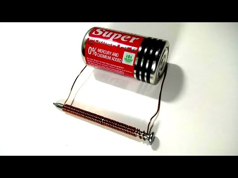 how to make an electromagnet with a battery