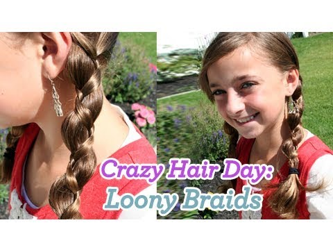Loony Braids | Crazy Hair Day | Cute Girls Hairstyles