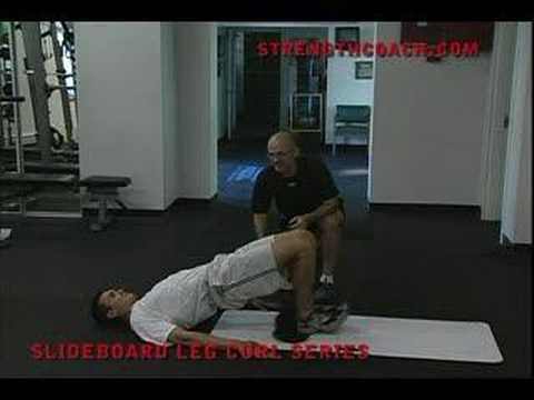 Strength and Power for Sports - Slideboard Leg Curls Image 1