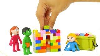 SUPERHERO BABIES MAKE CONSTRUCTIONS WITH LEGO ❤ SUPERHERO PLAY DOH CARTOONS FOR KIDS
