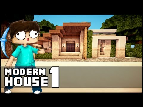 Minecraft Let´s Build: Small Modern House - Part 1