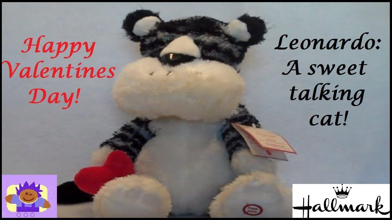 Valentine S Day Talking Toys : Hallmark talking valentines tiger cat leonardo plush toy