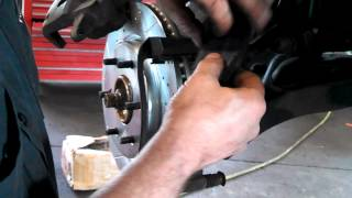 Front brake pad replacement 2004 - 2007 Nissan Titan. Infiniti Install Remove Replace pads
