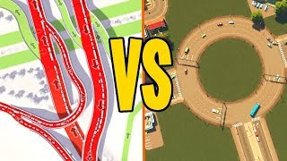 DIABOLIC Traffic Junctions Vs Roundabouts...Who Wins in Cities Skylines?
