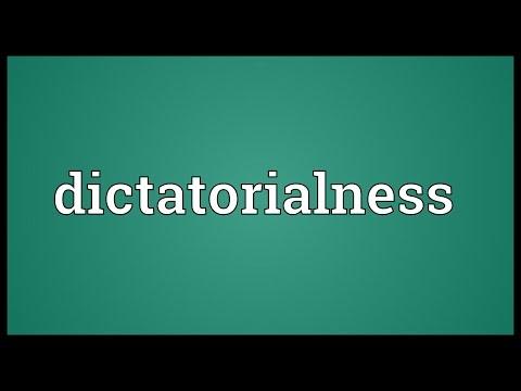 Header of dictatorialness