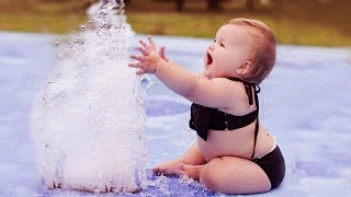 Funniest Baby Playing With Water - Funny Baby Video