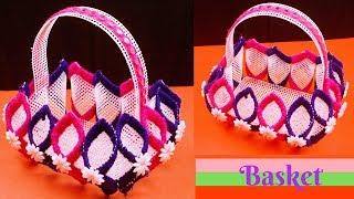 DIY Canvas plastic - Handmade Craft Plastic Canvas Basket - Plastic canvas crafts