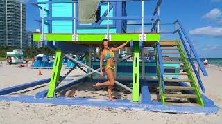 Brazilian super model Julia Pereira  shows her bikini body at the beach in Miami Beach!