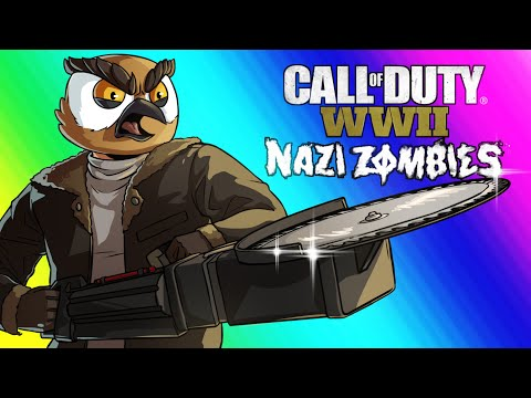 COD WW2 Zombies Funny Moments - Darkest Shore DLC and Easter Egg Attempt!