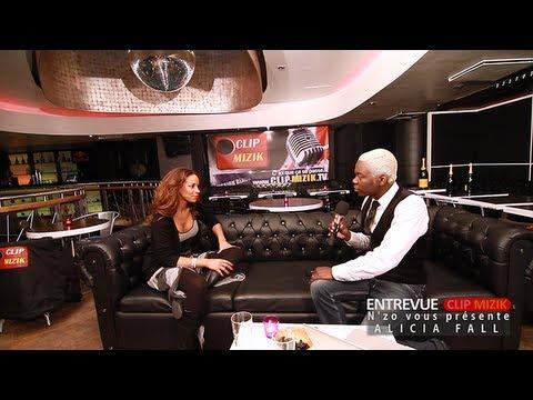 Alicia Fall dans Entrevue Clip Mizik Animée par N'ZO
