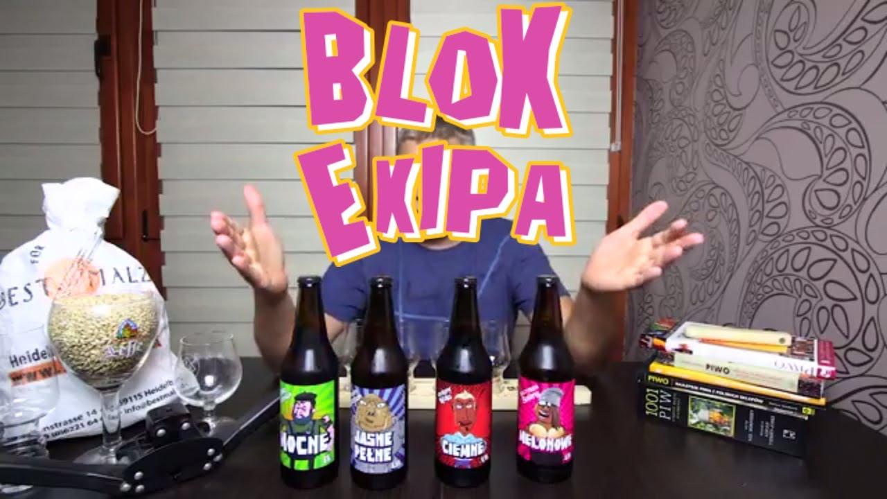 Piwo Blok Ekipa z browaru Bytów