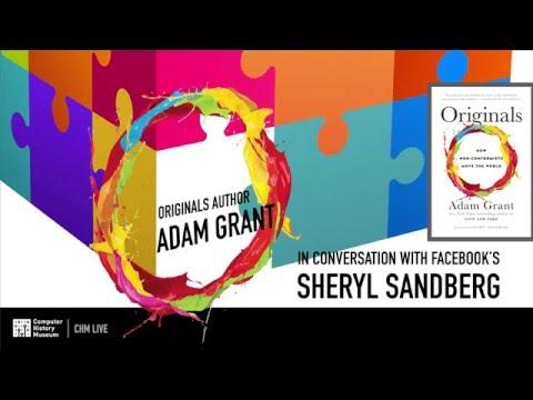 """""""Originals"""" Author Adam Grant in Conversation with Facebook's Sheryl Sandberg"""