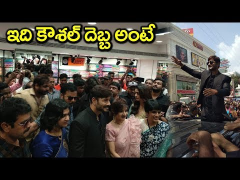 Kaushal Craze Fans at KLM Fashion Mall Opening in Suchitra | Kaushal Army #9RosesMedia