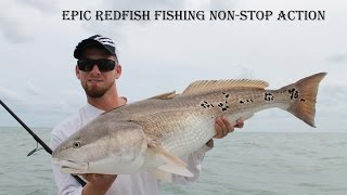 Epic Redfish Fishing Non-Stop Action- East Side Fishing
