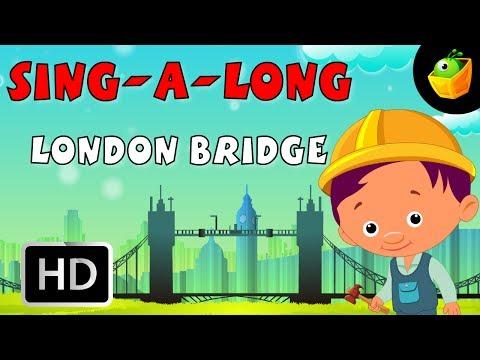 Karaoke: London Bridge - Songs With Lyrics - Cartoon/Animated Rhymes For Kids