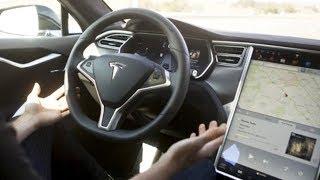 420 Beygirlik Sürücüsüz Elektrikli Araba 2017 Tesla Model S İncelemesi! (Koltuğa Yapıştık!)