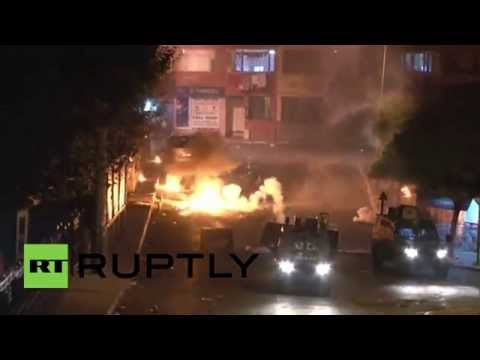 Turkey: Watch pro-Kurd protesters RAGE in fiery Istanbul clashes