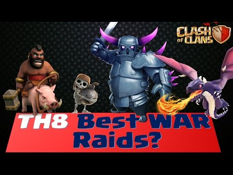 Clash of Clans - Best TH8 WAR Attack : SOLVED?